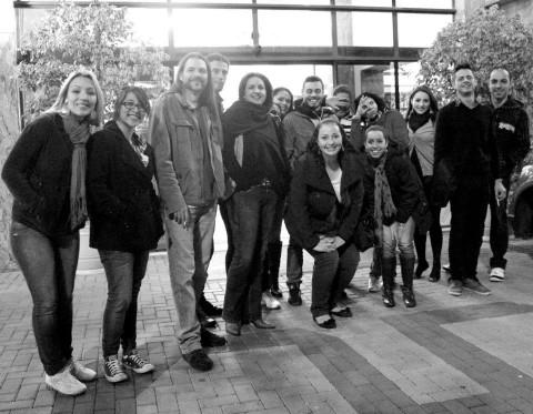 Professores e alunos do Centro Universitário UNINTER presentes no Expocom 2012