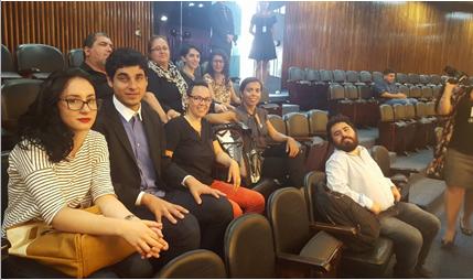 Integrantes da visita na ALEP