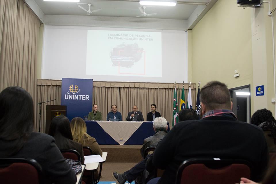 Banca de apresentação do I Seminário de Pesquisa em Comunicação