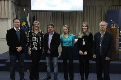 Palestrantes e professores do evento de comércio exterior